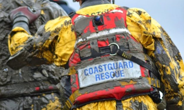 BREAKING: Major operation launched to save woman trapped in mud at Arbroath foreshore - The Courier