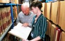 Roben Antoniewicz with assistant archivist Sarah Wilcock
