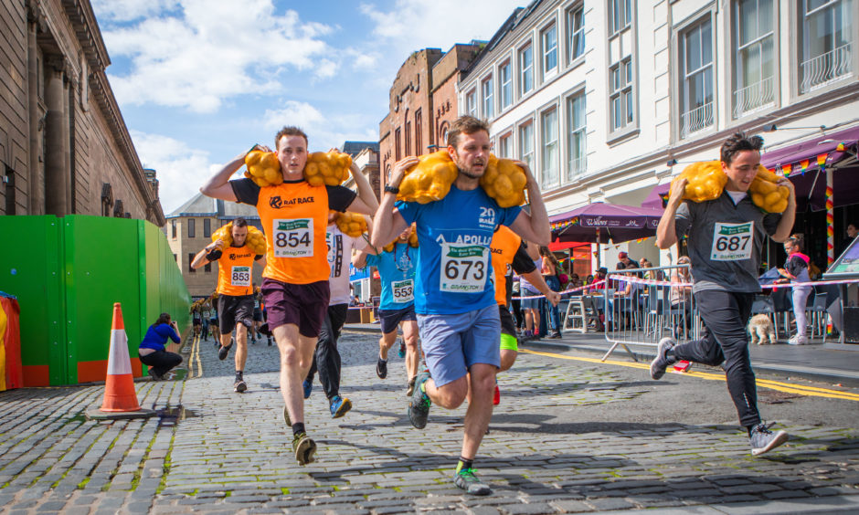 Participants during the Great Scottish Tattie Run. All pictures  by Steve MacDougall / DCT Media