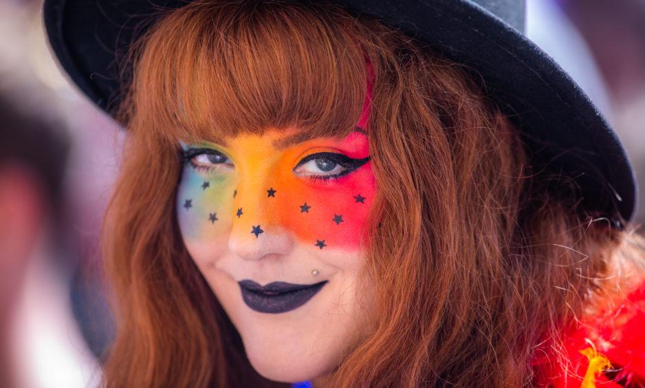 Louise Jones from Spittalfield enjoys the festive atmosphere.