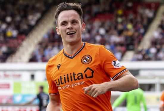 Lawrence Shankland celebrates another goal.