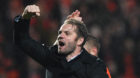 Delight for Robbie Neilson at full time.