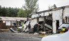 Damage following the explosion at the Cowdenbeath taxi firm.