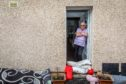 Annette Young at her home in Park Road which was flooded out for the second time in two years after heavy rains swept Fife on Wednesday afternoon.