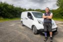 Brian Blackburn (59) rescued the dog from the M90.