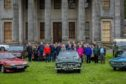 Tayside Classic Car Club members  at Camperdown House for the anniversary run.