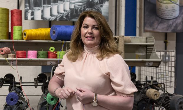 Shona Young at her Forfar factory.