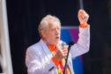 Sir Ian McKellen on stage at Perthshire Pride