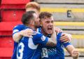 Callum Hendry celebrates his goal against Livingston.