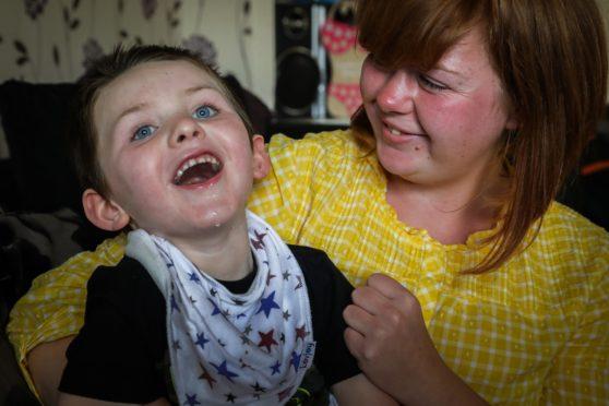 Leo, 4, with his mum Claire.