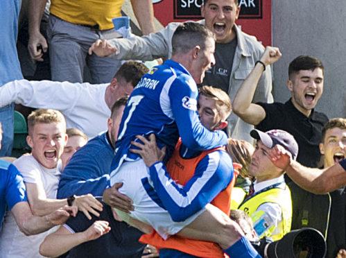 Michael O'Halloran celebrates his goal.