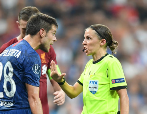 Stephanie Frappart during the Super Cup match.