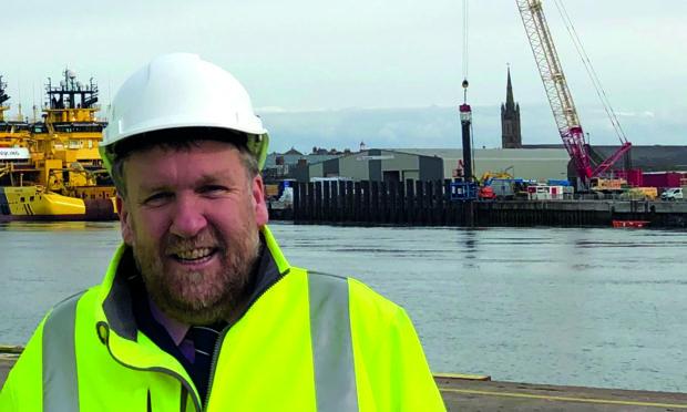 Montrose Port Authority chief executive Captain Tom Hutchison.