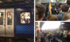 Photos showing the scenes on trains from Edinburgh on the last day of the Fringe.