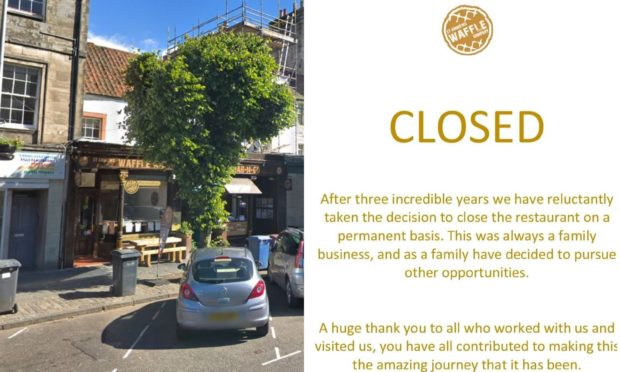 St Andrews Waffle Company has announced it will close.