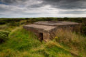 CR0013285  Council leader calls for sections of Montrose's  WWII coastal defences to be preserved as erosion puts them under threat.  ....Pic Paul Reid