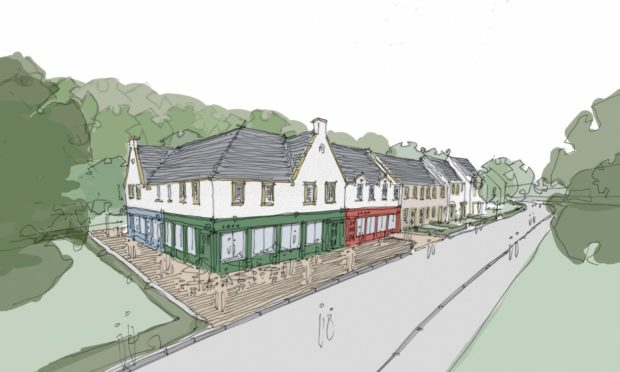An artists' impression of how the new Almond Valley development could look