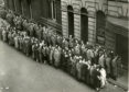 Queue at Kinnaird Cinema, Dundee, 1954.