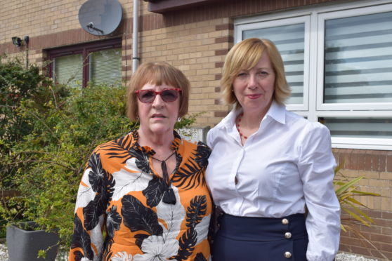 Ann Erskine with Lesley Laird.