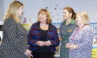 Ms Hyslop with Pamela Tulloch, Heather Stuart and Maggie Gray, service development team leader at ONFife Libraries.