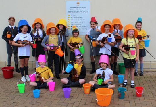 Pupils from Timmergreens Primary School in Arbroath took part in music teacher Heather Miranda's Oor Musical Bucket Trail.