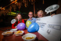 Picture shows Ola Stanton of Perth Youth Orchestra, Jonathan Cammidge, PCOG Treasurer and Mhairi MacKinnon from Perth and Kinross Music Foundation, at the party. Picture credit -  Mhairi Edwards.