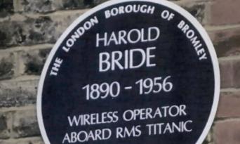 A memorial for Harold Bride has been proposed.