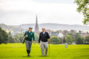 Rick Valentine and his father Iain Valentine, grandson and son respectively of Jessie Valentine, on the North Inch Golf Course.