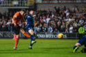 Louis Appere smashes home his superb goal in the derby.