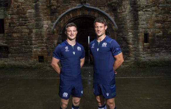 Brothers George (L) and Pete Horne are going to the World Cup in Japan with Scotland.
