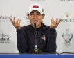 Danielle Kang demonstrates how she'll gesture to the Gleneagles crowd to bring the noise at this week's Solheim Cup.