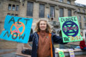 Protester Josephine Becker at Extinction Rebellion protest.