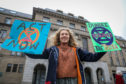 Josephine Becker, 21, was one of the Extinction Rebellion members calling on the council to take action.