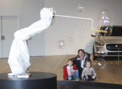 Bubble installation at V&A Dundee.