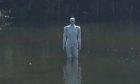 The Keptie Kev statue in Keptie Pond.