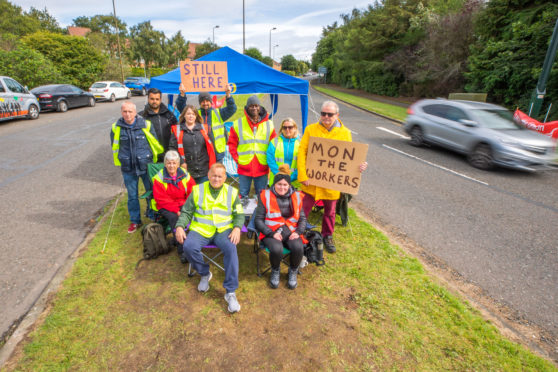 The workers will continue to stay on the picket line until the dispute is resolved.
