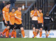 Dundee United's winning steak came to an end in Ayr.