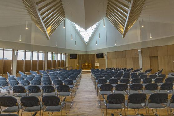 The interior of the new Monifieth Parish Church.
