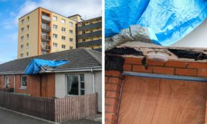 The fire-hit Kirkcaldy home.