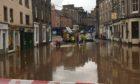 Flooding in Forfar