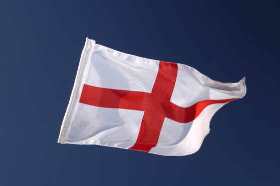 The cross of St George, the flag of England.