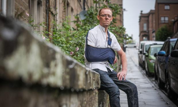 Stephen Muir, 52, on Step Row.