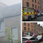 Busy Dundee road closed off as firefighters tackle blaze at top-floor flat