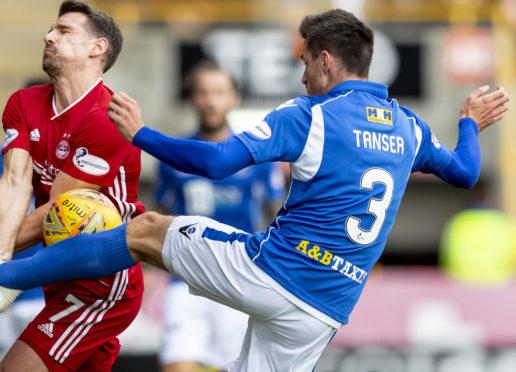 Scott Tanser in action against Aberdeen.