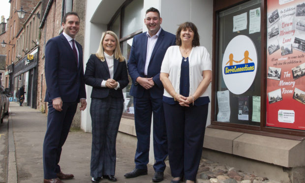 Maurice Golden MSP, Kirstene Hair MP,  Scotland shadow health secretary Miles Briggs and Amanda Kopel.