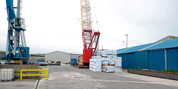 Courier News - Angus - Janet Thomson story; CR0010148 Montrose residents complaining about the stench coming from household waste being stored on their doorstep. Picture Shows; part of the site operated by Rix Shipping (Scotland) Ltd (NOT NECESSARILY THE SHEDS WHERE THE REPROCESSING HAPPENS), Montrose Harbour, Montrose, 04th June 2019. Pic by Kim Cessford / DCT Media