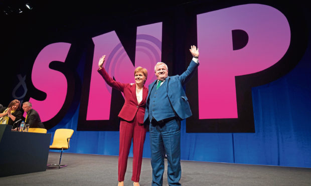 First Minister Nicola Sturgeon with Ian Blackford at the opening of the 2019 SNP autumn conference in Aberdeen in autumn.