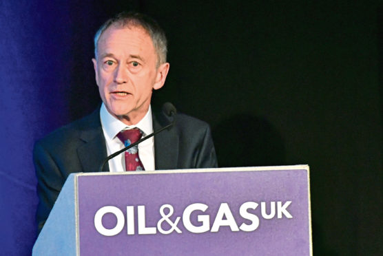 Energy Voice ;  Oil & Gas UK breakfast briefing on Vision 2035 at the AECC.     Pictured - Host Mike Tholen.     .....see story Mark Lammey.            Picture by Kami Thomson    12-06-18