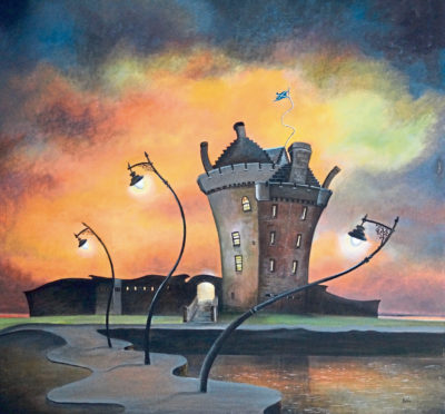 Lighting the Way, Broughty Castle, by Gail Stirling Robertson.