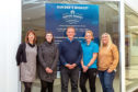 Angie De Vos, Womens Business Station; Elaine Falconer, Boot Loot Boutique; Wellgate manager Peter Aitken; Claire Semple, Semple Sports Therapies; Carrie Shannon, DD1 Events.